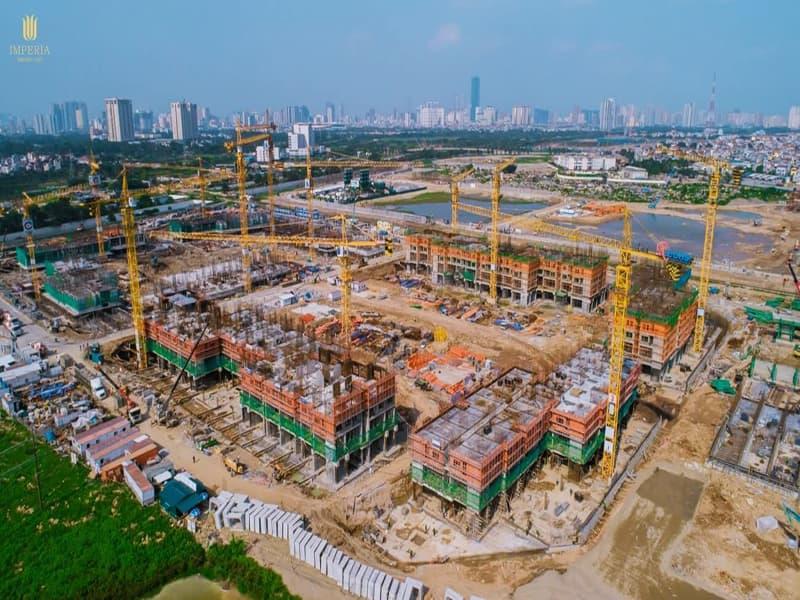 tiến độ dự án imperia smart city